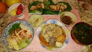 海鮮丼・おでん・焼き豚サラダ