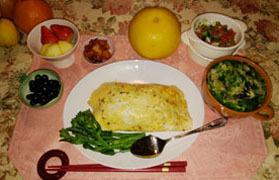 オムライス&卵野菜スープ