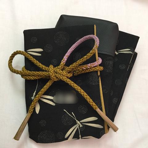 手捺染蜻蛉木銃袋