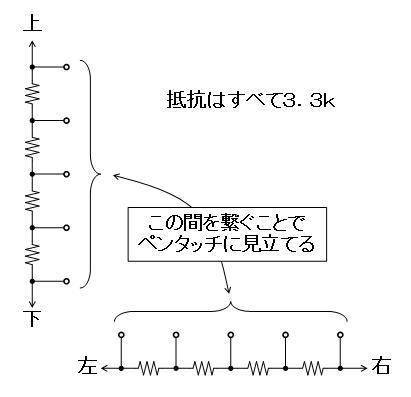 アンパンマンはじめてのペンタッチスクール(タッチパネル不良)疑似的なタッチパネル回路