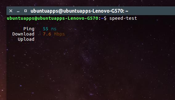 speed-test-snap Ubuntu インターネット 速度 測定開始