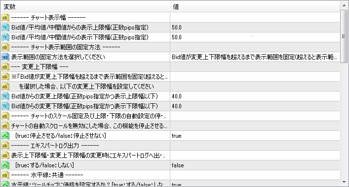ChartScaleFixInRange設定画面