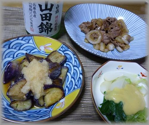 山田錦と肴
