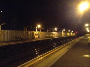 ノース・イーリング駅の夜景