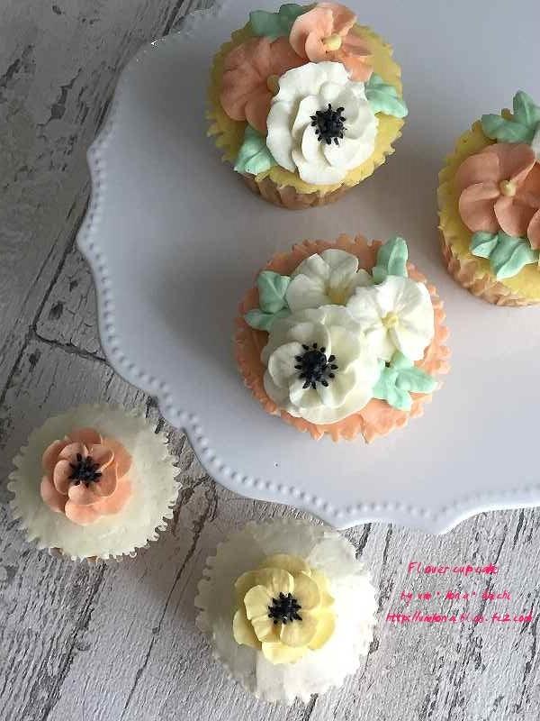 フラワーカップケーキ3