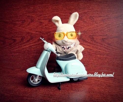 アイボリーウサギのお父さん&原チャリ