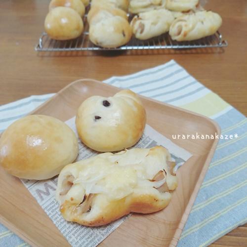 丸パン・ハムロール・チョコチップパン