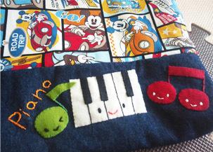ピアノちゃん刺繍