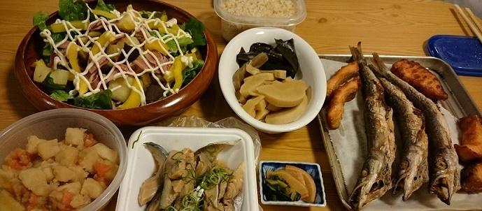 カマスと鯖の酢醤油定食