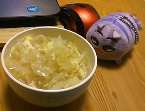 お夜食の寒天スープ