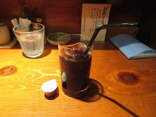 食後のコーヒーはアイスで