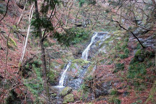 連続する滑滝