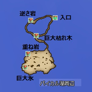 バイカル湖周辺地図