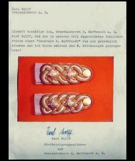 Karl wolff_Schulterstück_urkunde
