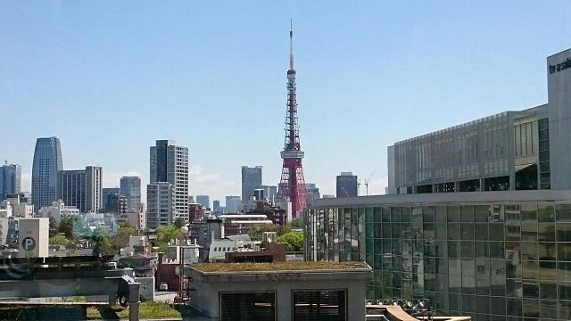 六本木ヒルズ4Fより東京タワー