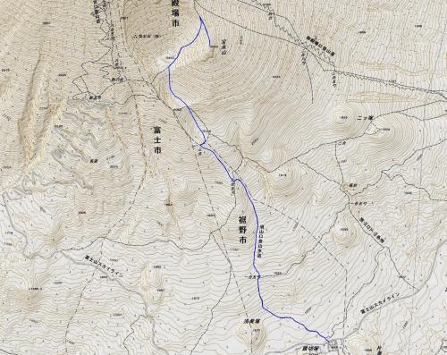 170326 宝永山予定ルート