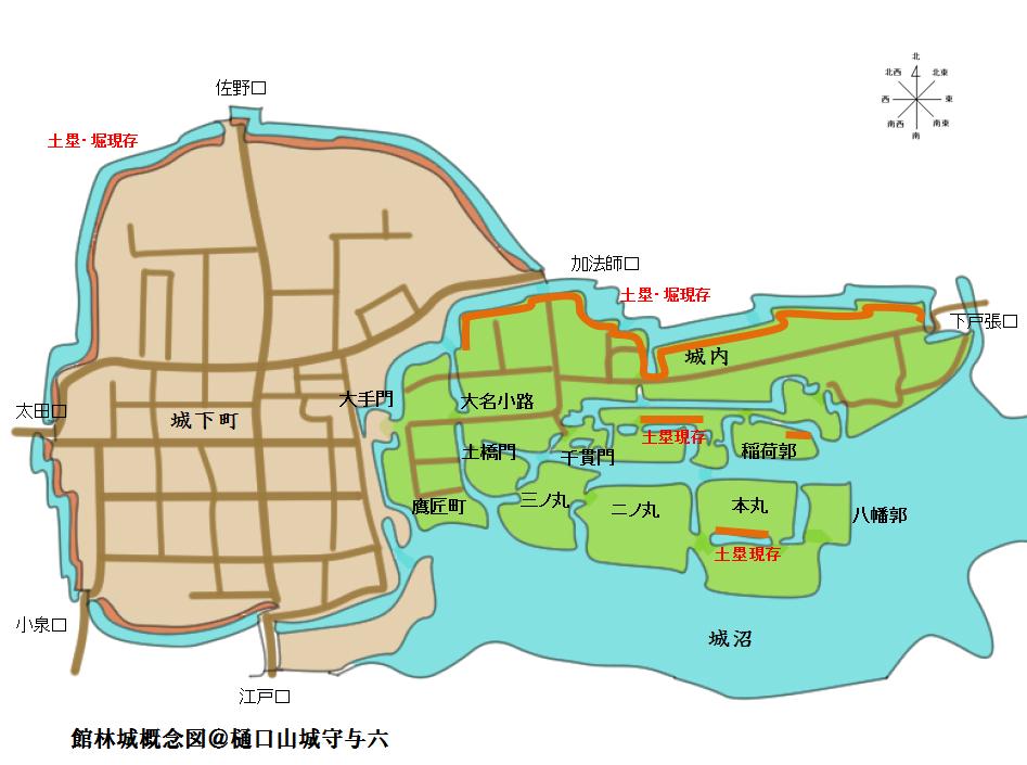 館林城概念図@