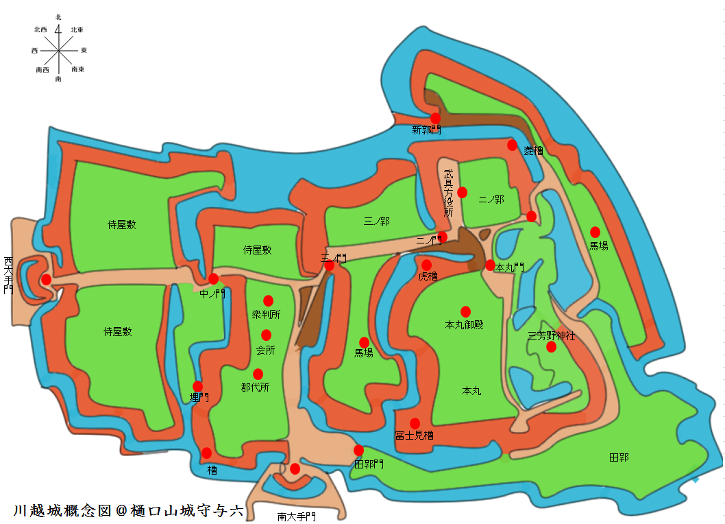 川越城概念図@ヤマシロ
