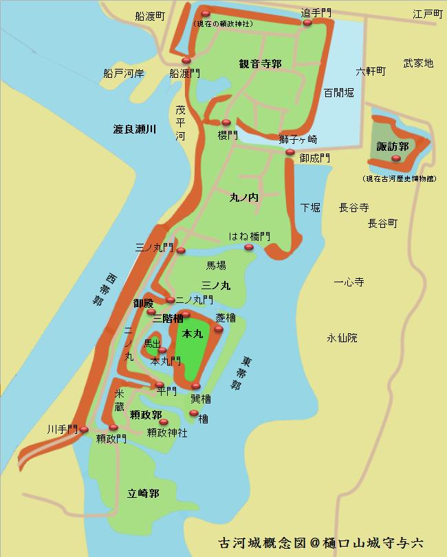 古河城概念図@