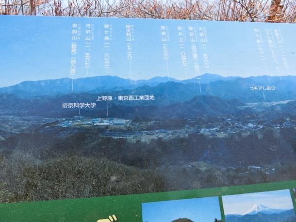 要害山頂の展望