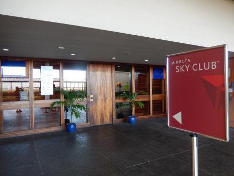 ハワイ2016.10ホノノル空港・デルタスカイクラブ