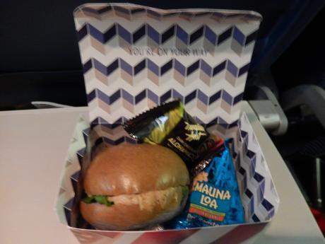 ハワイ2016.10デルタ航空成田行・機内食