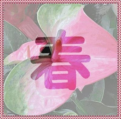 春花文字1