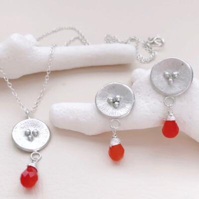 raw stone earrings