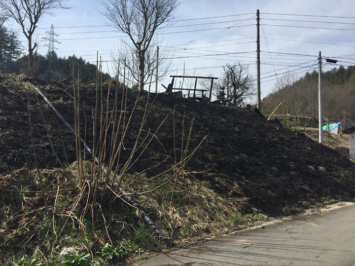 ボタ草火災 野焼き 2017