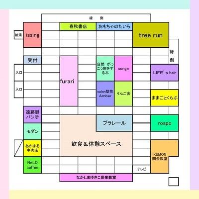 親子フェスタ2017配置図