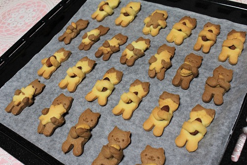 ブログNo.879(にゃんこ型クッキー焼きました♪)1