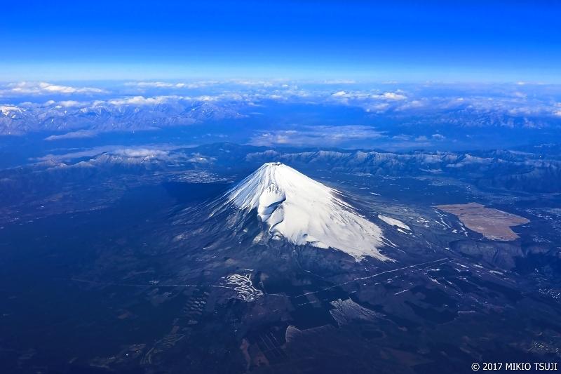 絶景探しの旅 - 0155 南アルプスの山々と富士山 (静岡県上空)