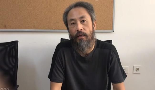 解放された安田純平さん