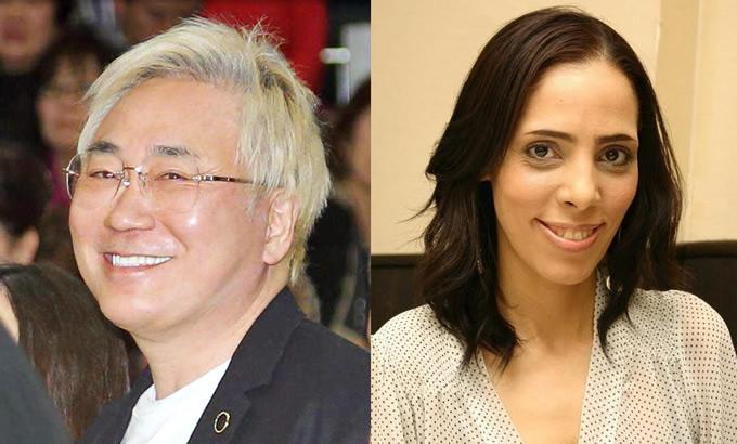 高須克弥院長とタレントのフィフィさん