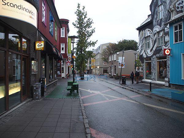 レイキャビクのメインストリート