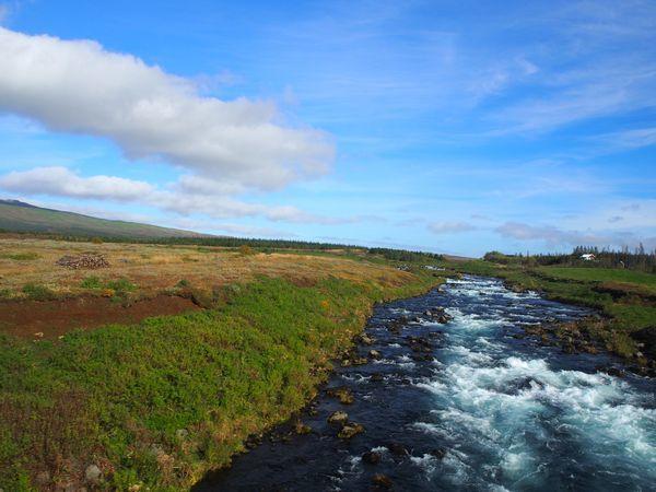 氷河を源流に持つ川
