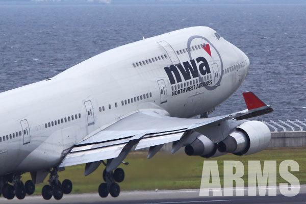 ノースウェスト航空 747型機