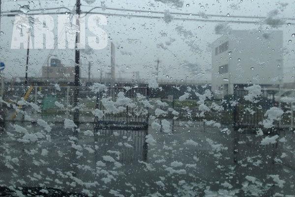 雪が降った岐阜市内