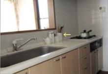 キッチン作業台の上