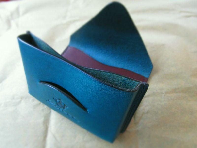 本革名刺入れカードケース イタリア本革 手縫い  (5)