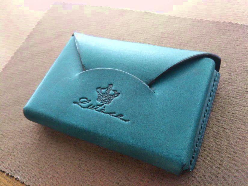本革名刺入れカードケース イタリア本革 手縫い 10日使用後
