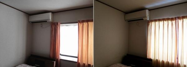寝室、オーダーカーテンに変える (3)-2