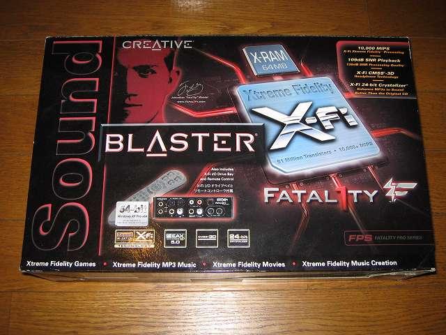 Creative Sound Blaster X-Fi Fatal1ty PCI Card (SB0466) パッケージ