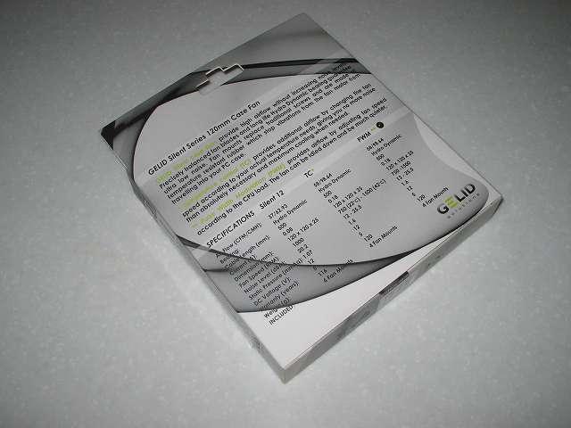 PC ファン GELID Solutions GELID SILENT 12 PWM パッケージ裏