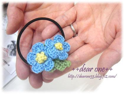 小花のヘアアクセサリー170313