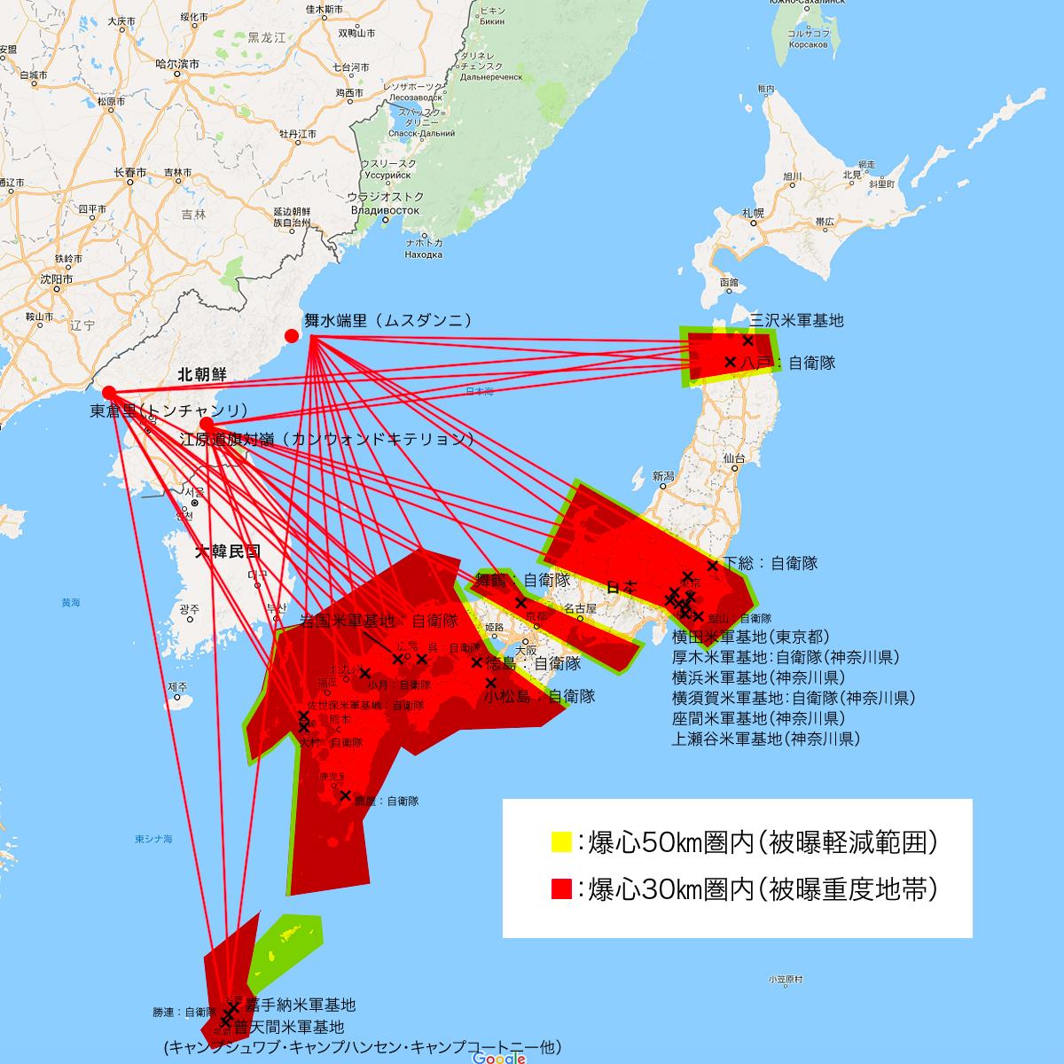 日本への核攻撃