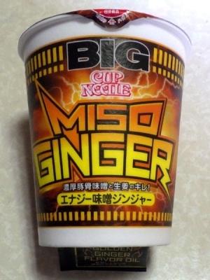 3/27発売 カップヌードル BIG エナジー味噌ジンジャー