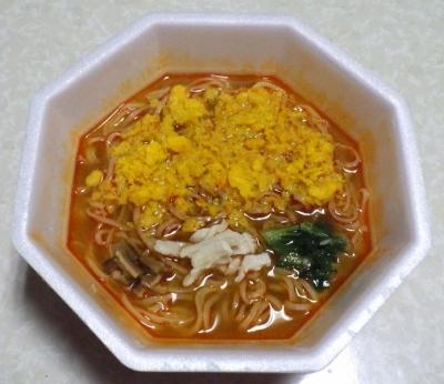 3/6発売 ラ王 ピリ辛酸辣湯麺(できあがり)