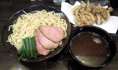 綿麺 フライデーナイト Part127 (17/4/14) 新玉ねぎとあわび茸のかき揚げつけ麺