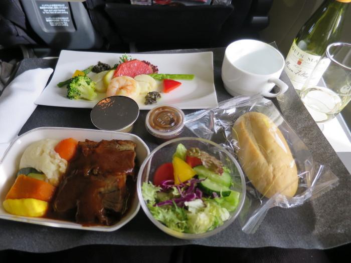 JAL 関西上海 機内食 ビジネスクラス